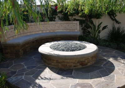 Laguna Hills Fire Pit Feature  by Aquanetic Pools