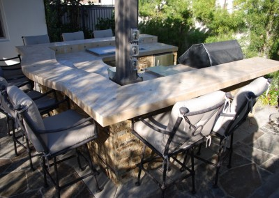 Laguna Hills outdoor barbecue counter top and bar by Aquanetic Pools