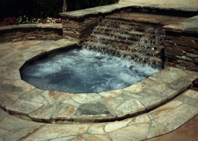 Stone Spa With Rock Water Feature