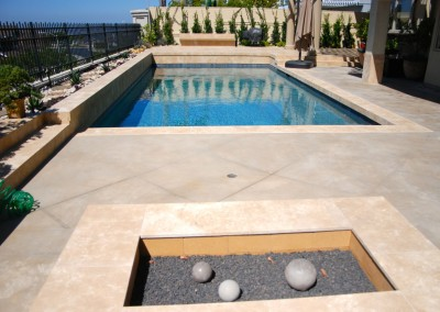 Classic Rectangle Pool With Fire Pit