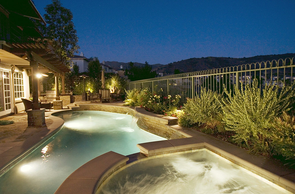 Freeform Custom Pool in Dove Canyon