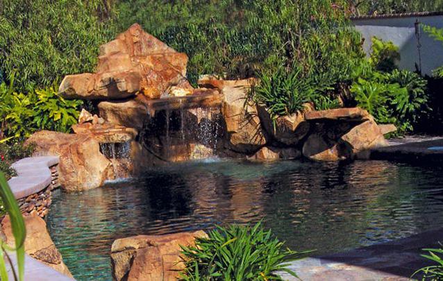 Rock & water sculpture