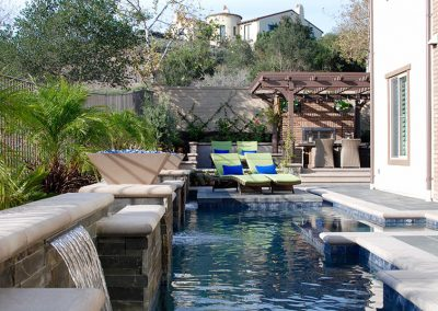 Transitional Pool With Concrete Coping