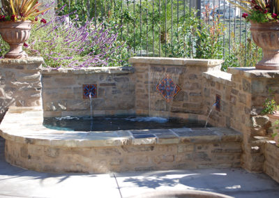 Sheet Flows & Bronze Fountain