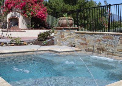 After With New Landscaping, Pool, Spa & Water Feature