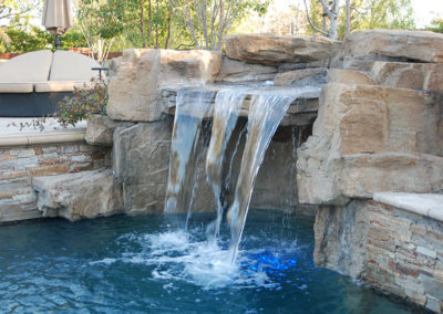 Large Rock Grotto Waterfall