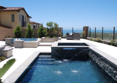 Lap Pool with Spa & Fire Pit