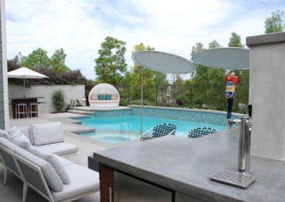 Glass Tile Pool & Fun Backyard