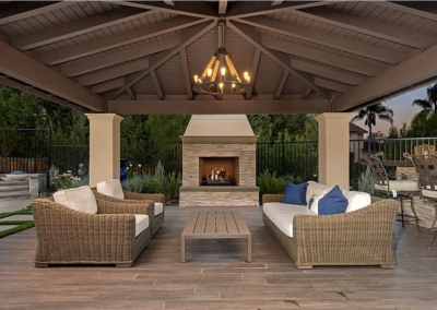 Outdoor Fireplace & Living Area